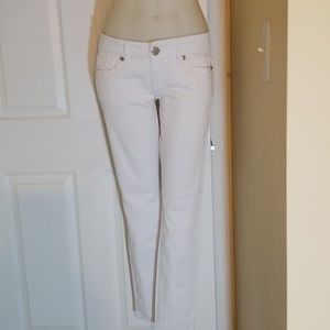 G by Guess White Suzette Skinny Ankle Pants 27 NWT